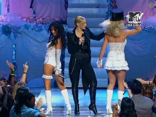 Madonna, Britney Spears & Christina Aguilera - Like A Virgin / Hollywood (MTV Video Music Awards) (2003) Live