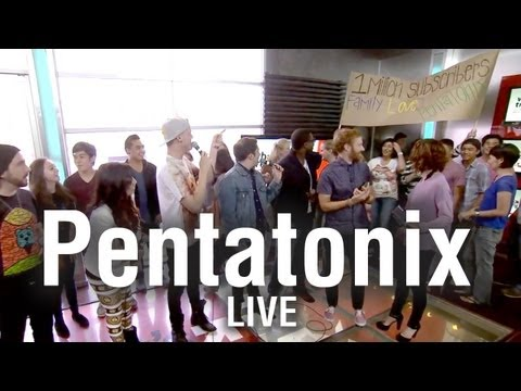 "Pentatonix Perform Macklemore ""Thrift Shop"" Cover LIVE on What's Trending"